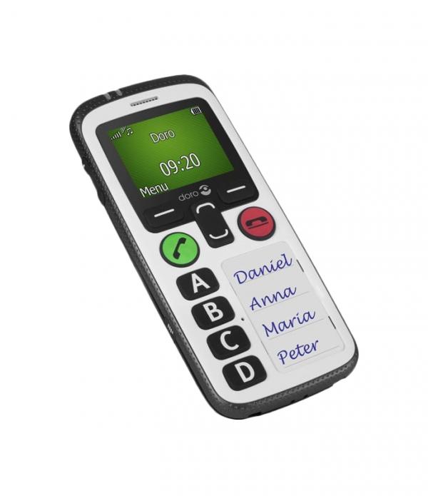 Téléphone mobile PTI, 2 touches SOS